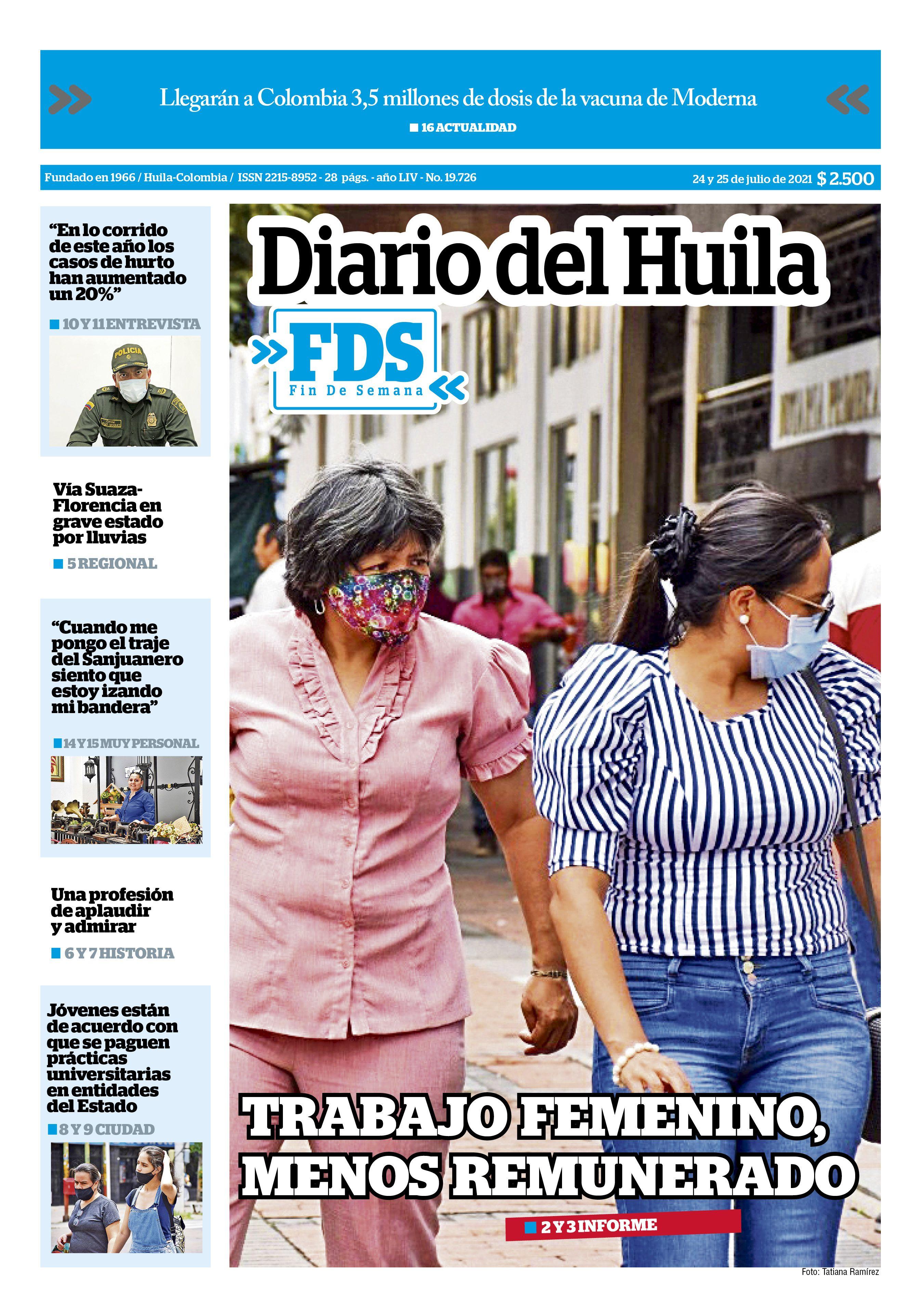 Diario del Huila 24 de julio de 2021