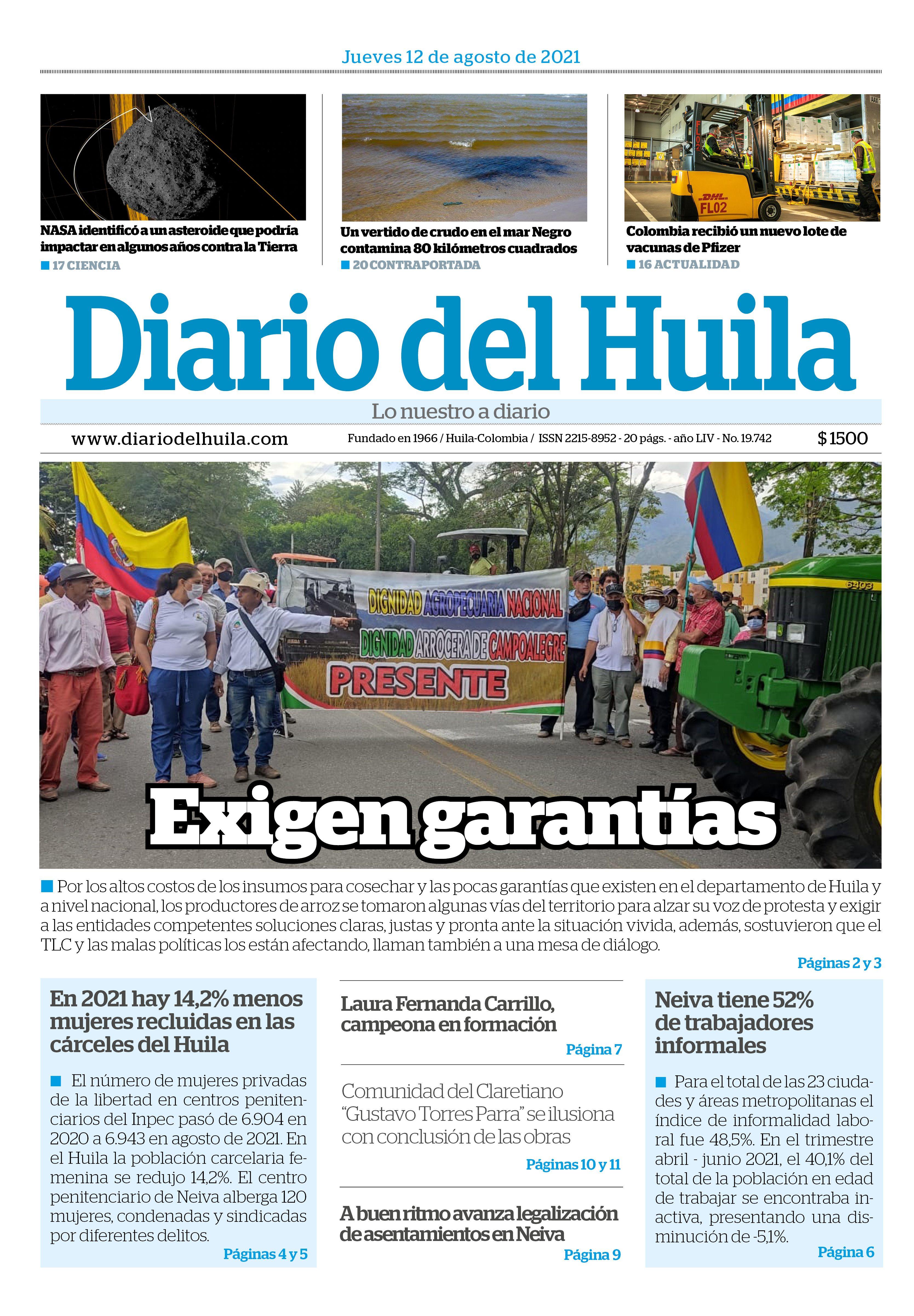 Diario Del Huila 12 de Agosto de 2021
