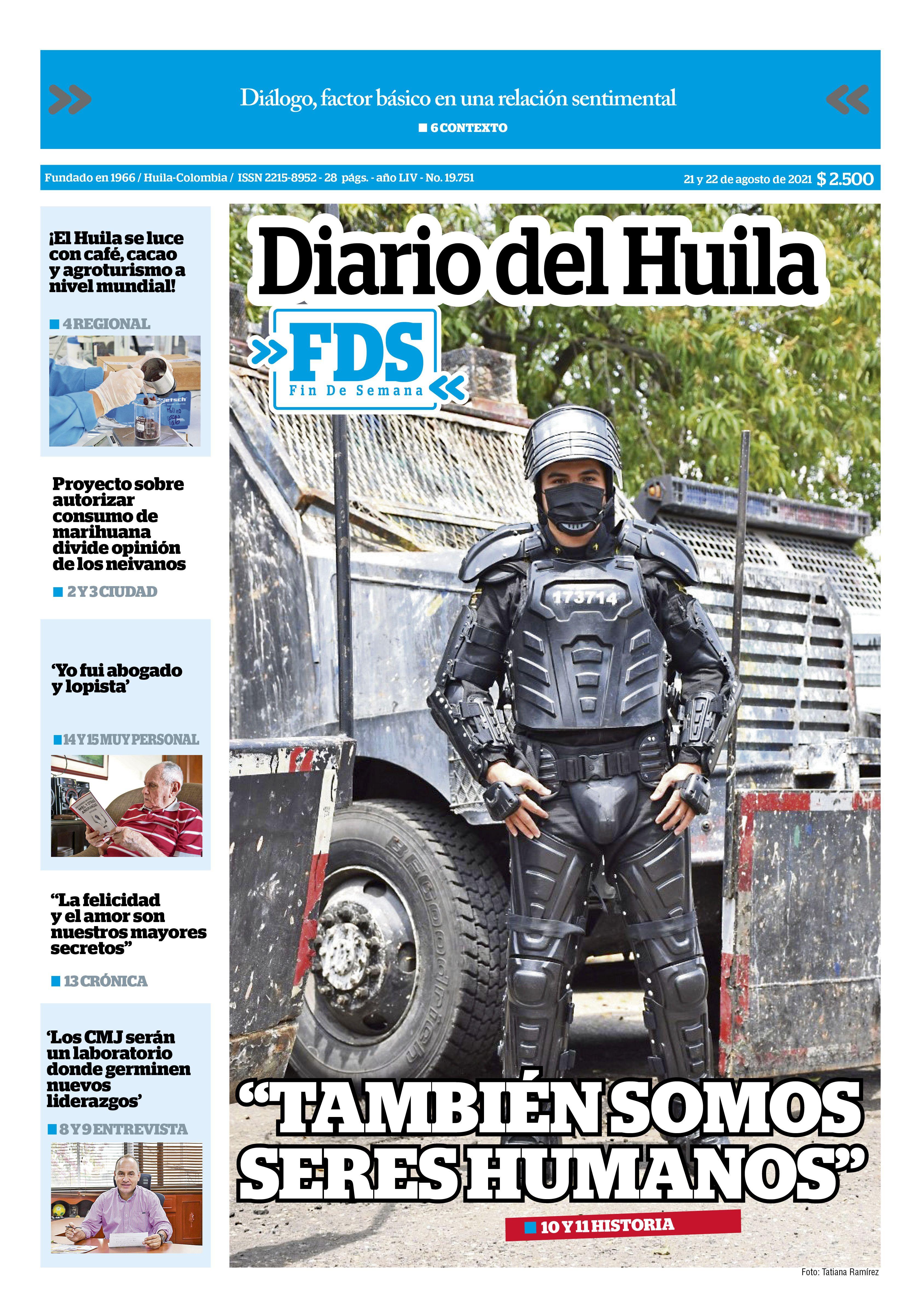 Diario Del Huila 21 de agosto de 2021