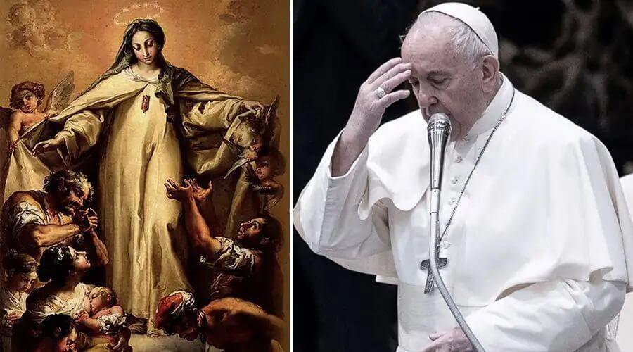 El Papa invita a acudir a la Virgen de la Merced para romper las cadenas de esclavitud