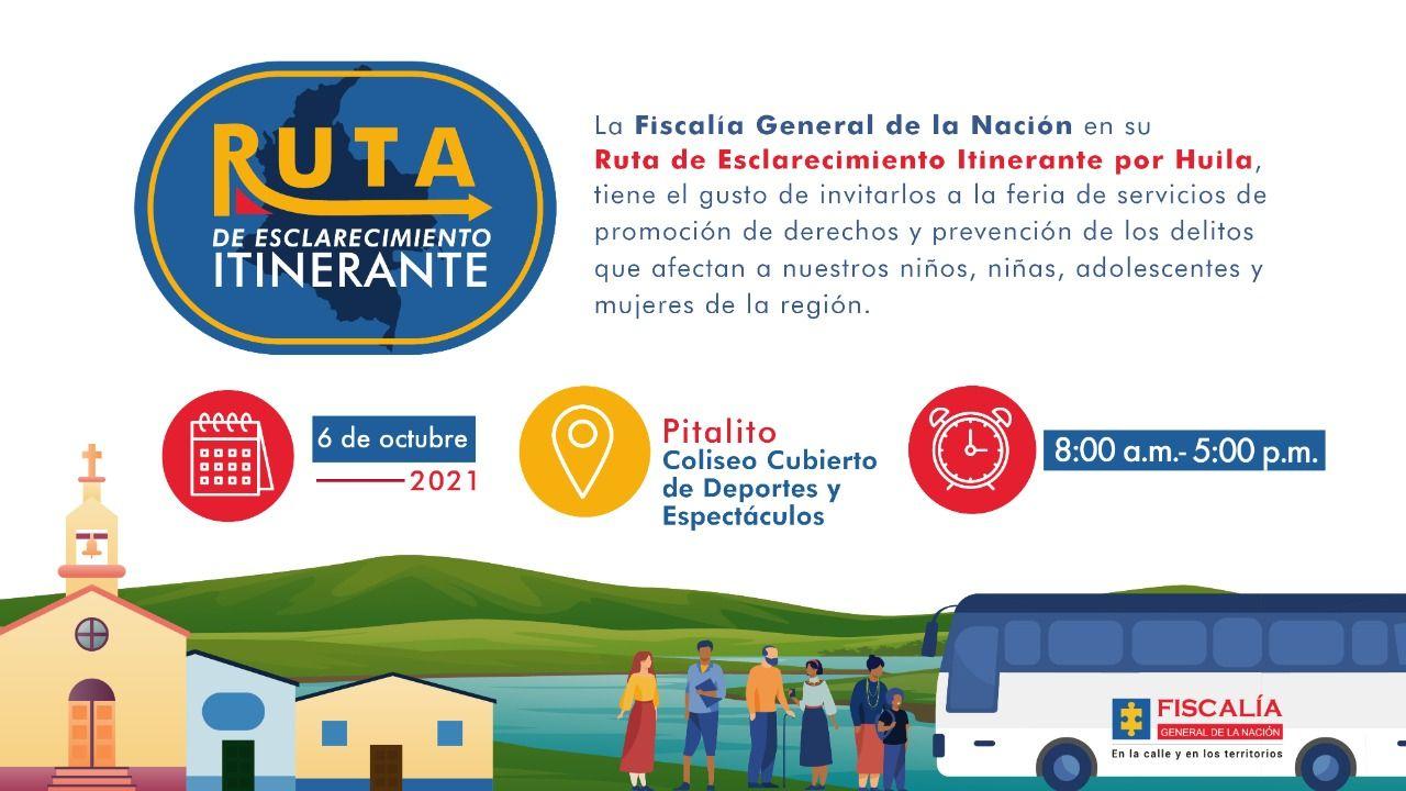 Ruta de Esclarecimiento Itinerante de la Fiscalía llegará a Pitalito