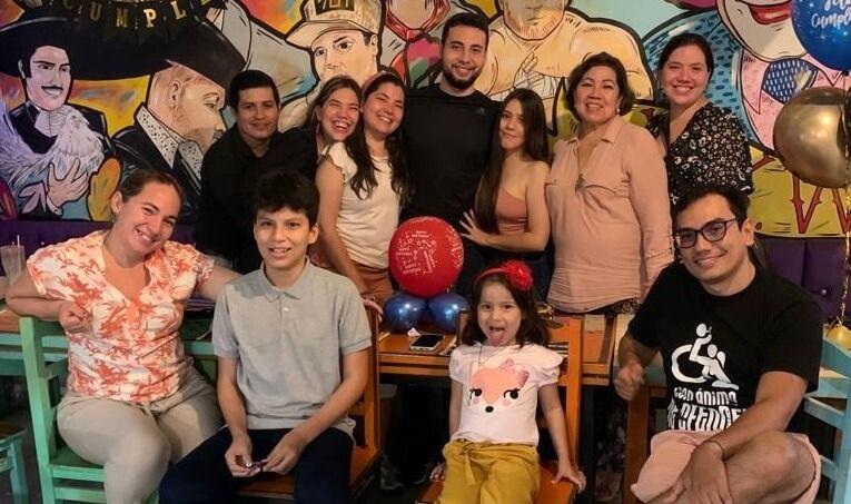 Celebración de Aldair Fernando