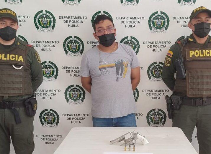 Capturado por porte ilegal de armas de fuego en Colombia