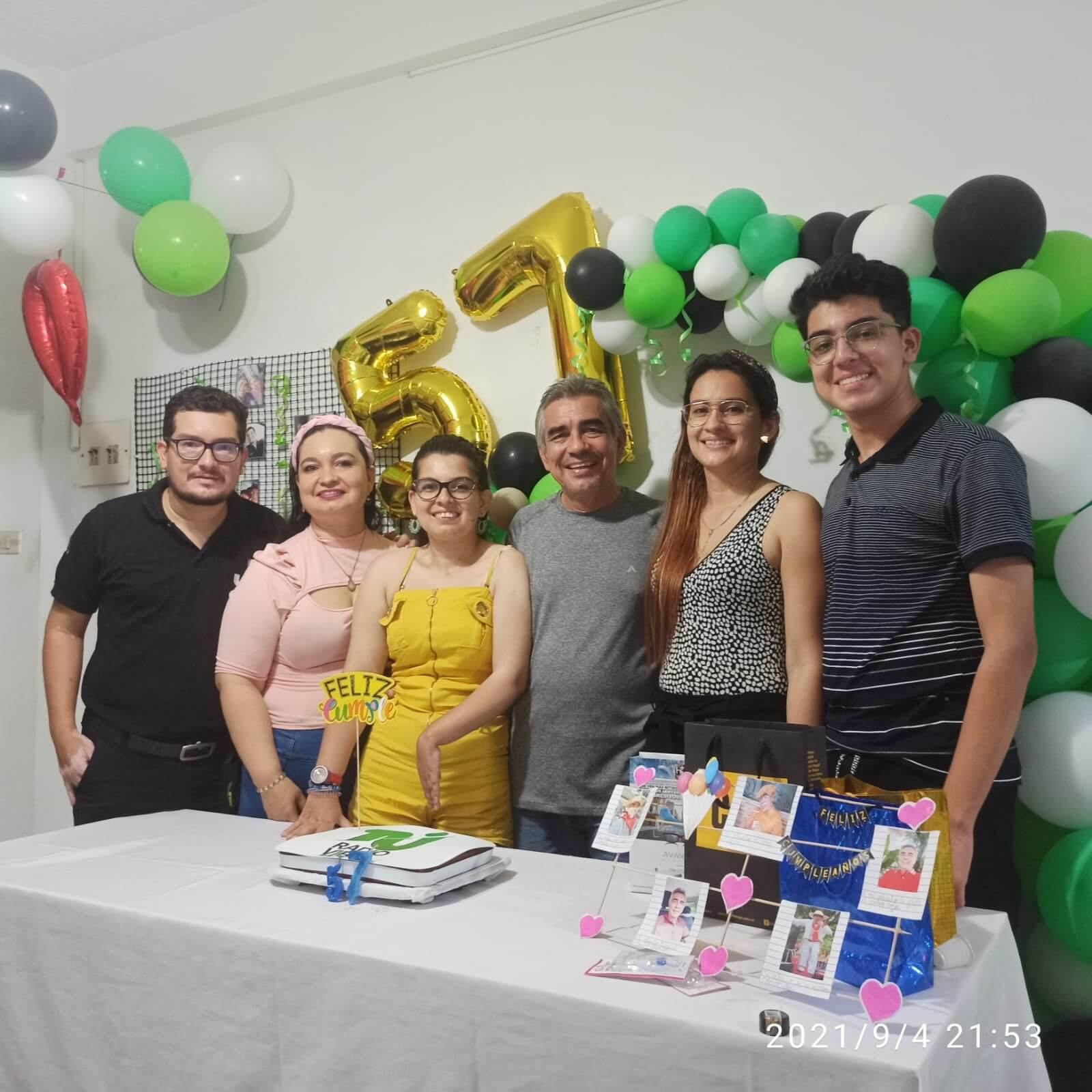 Celebración de Jairo Bobadilla Carvajal