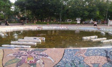 Fuente del parque Santander, luego de meses de olvido volverá a funcionar
