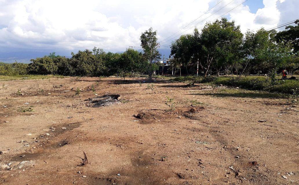 Comunidad del sur de Neiva, protesta por invasión de un terreno