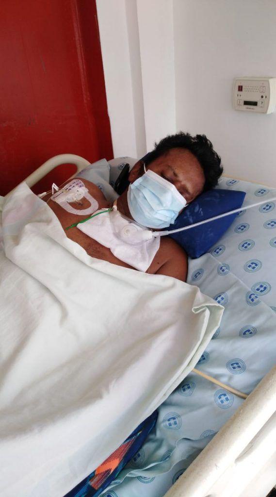 Jaime quedo en estado vegetativo a raíz del covid-19.