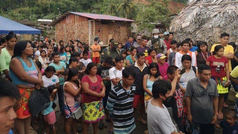 898 indígenas huyeron tras el asesinato de líder social en Bahía Solano