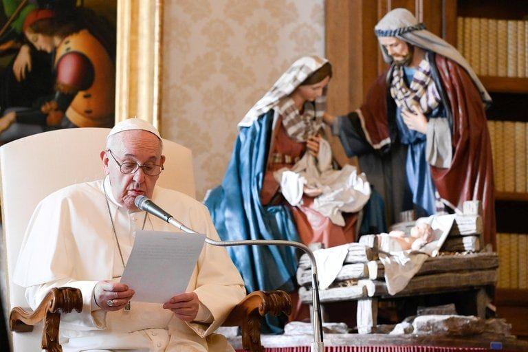 """Papa Francisco pidió que restricciones por la pandemia sirvan para disfrutar de una Navidad """"más verdadera"""""""