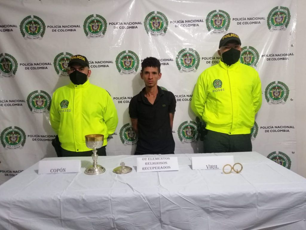 Jose Gonzalo Correa Ladino de 25 años de edad, fue dejado a disposición de la Fiscalía URI de turno.