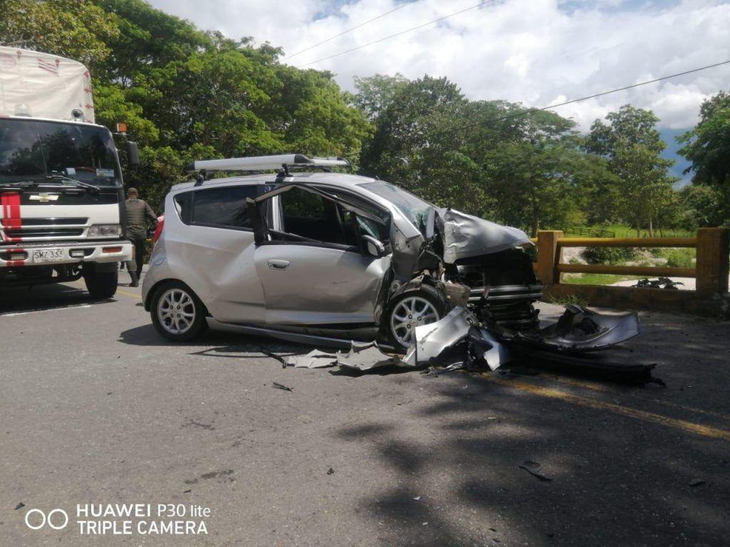 Ayer también se presentó otro accidente de tránsito en la vía Garzón-Neiva.