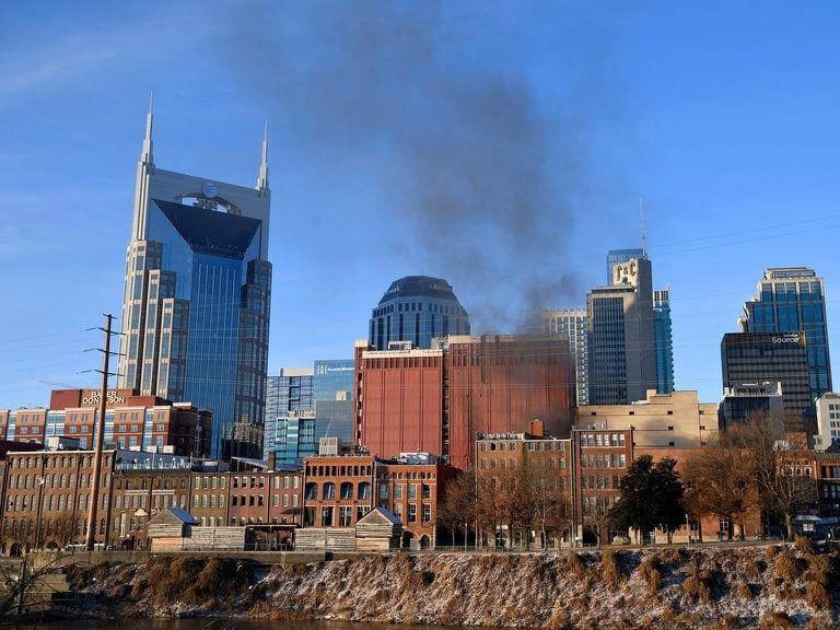 El estallido sacudió el centro de la ciudad (Andrew Nelles/Tennessean.com/USA TODAY NETWORK via REUTERS).