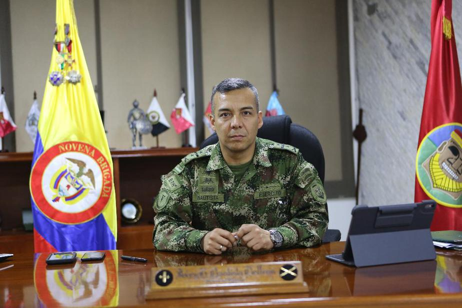 Jhony Bautista, comandante de la Novena Brigada.