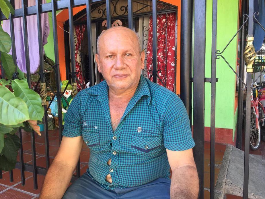 Marcos Perdomo, habitante del barrio Las Mercedes.