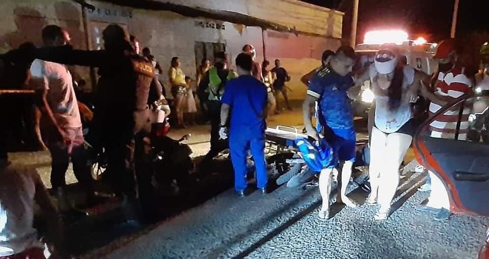Al sur de la capital huilense, dos motocicletas ocasionaron un accidente, según versión de los testigos, uno de los protagonistas manejaba en estado de embriaguez.