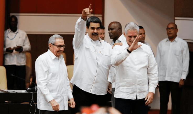 Miguel Díaz-Canel y Raúl Castro también manifestaron su apoyo a Nicolás Maduro (Miraflores Palace/Handout via REUTERS).