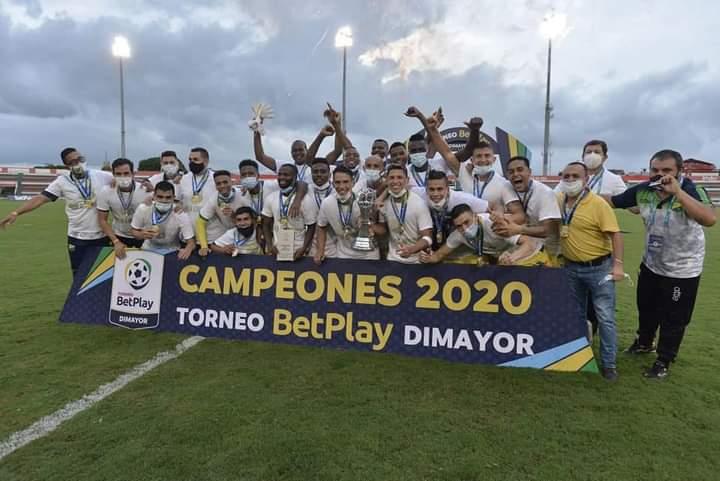 El Atlético Huila se alzó el título del torneo BetPlay 2020.