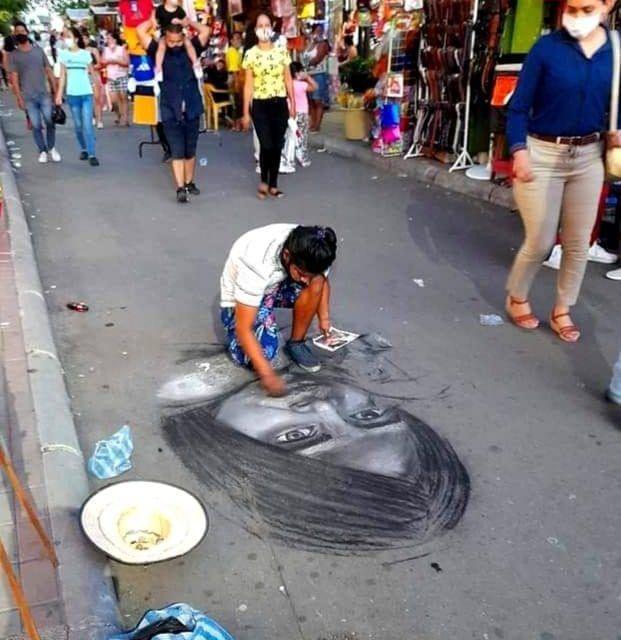 El artista que pinta las calles de Neiva
