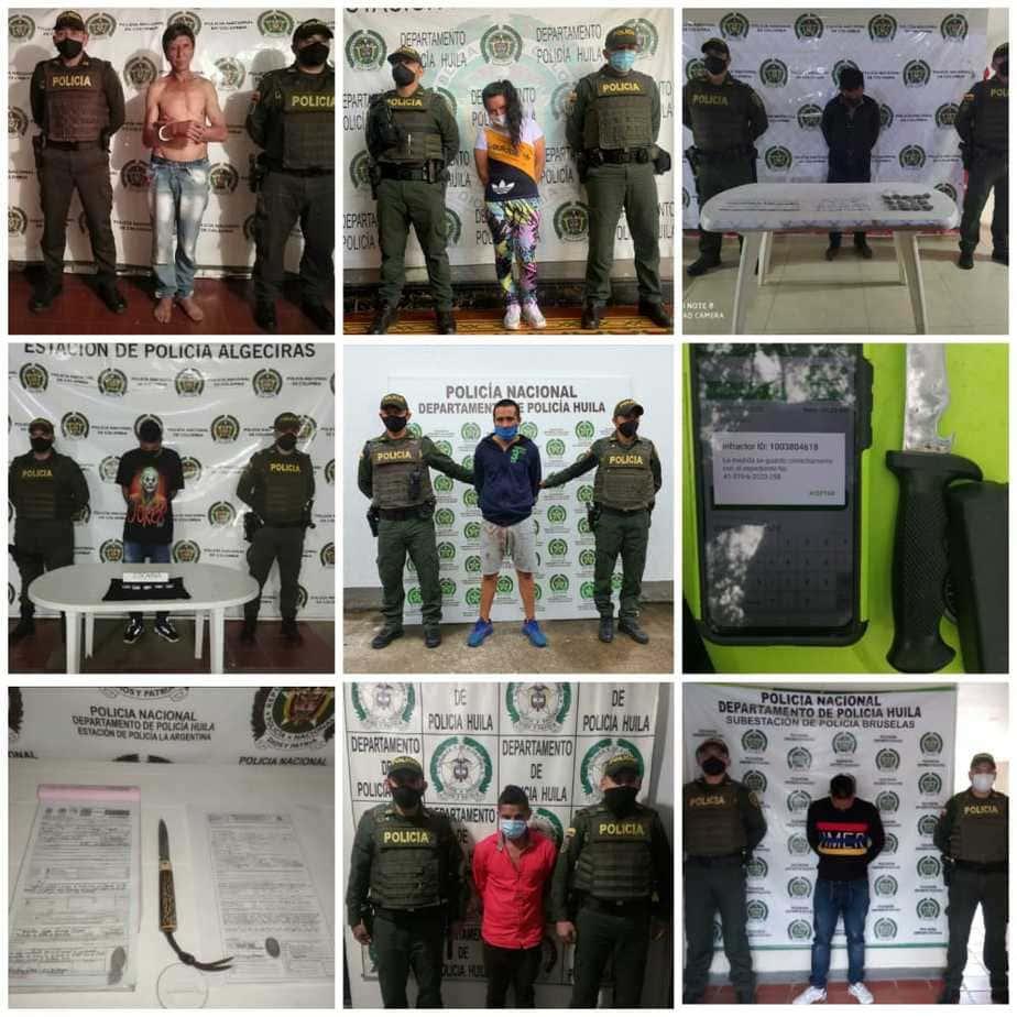 Se logró la judicialización y captura de 11 personas y 1 aprehensión por diferentes delitos.