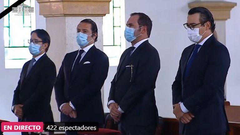 Honras fúnebres de MinDefensa se llevan a cabo en Capilla Cristo Salvador