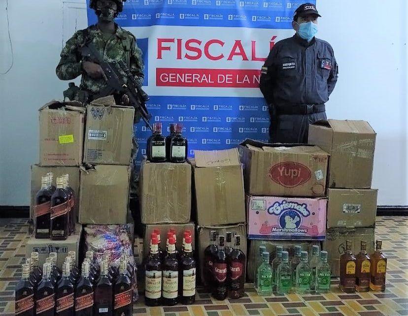 Incautan 256 botellas de licor de contrabando en el Huila