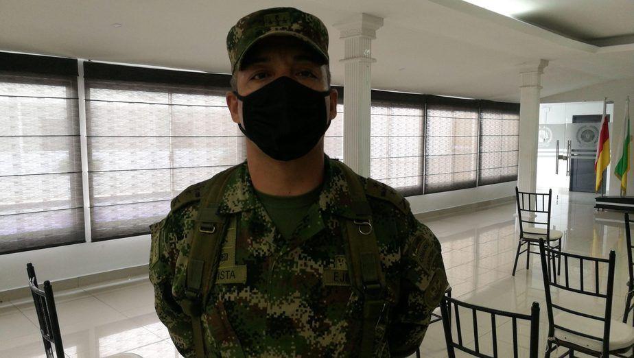 Johny Hernando Bautista Beltrán, comandante de la Novena Brigada del Ejército.