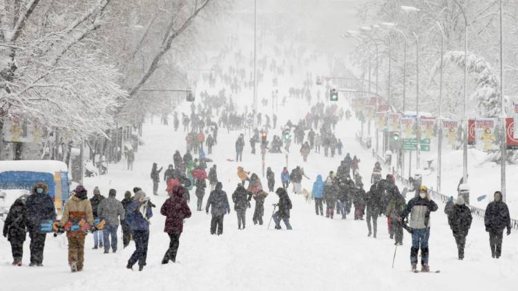 España se enfrentará una ola de frío tras paso de 'Filomena'