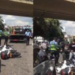 Influenciadora en Bucaramanga habría tropellado a un policía de Tránsito
