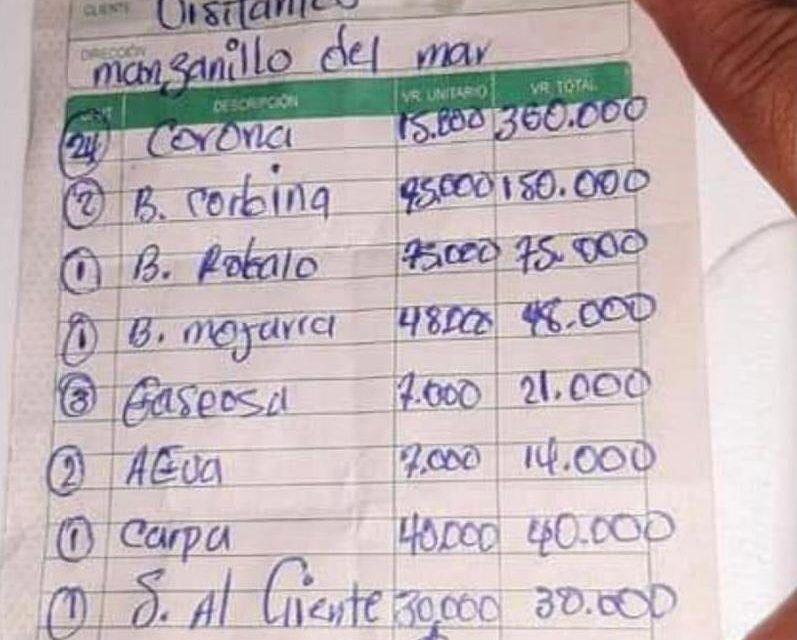 Cobran 700 mil pesos por comida en Cartagena a turistas