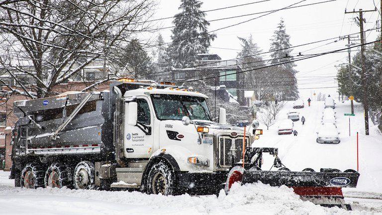 Enorme nevada que atraviesa Estados Unidos