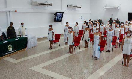 Alrededor de 30 mujeres se integraron como auxiliares de policía