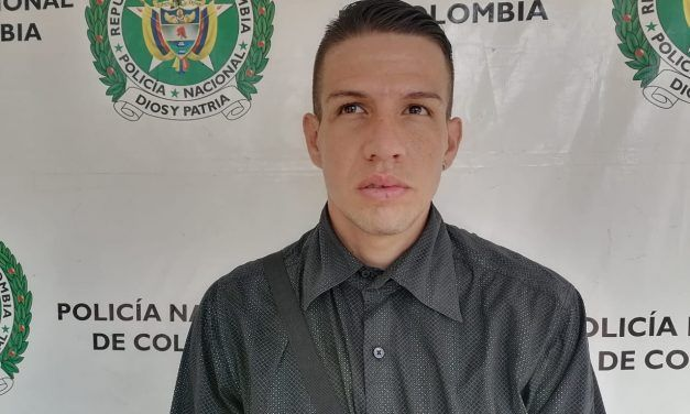 Policía capturó sujeto en flagrancia por el delito de hurto