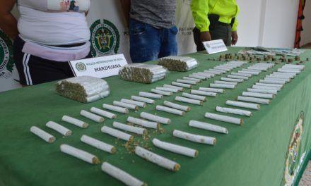 Con varias dosis de marihuana fueron capturadas dos personas en comuna 6 de Neiva