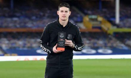 James, con el mejor gol del mes de Everton