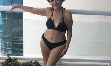 'La Chilindrina' en bikini a los 70 años