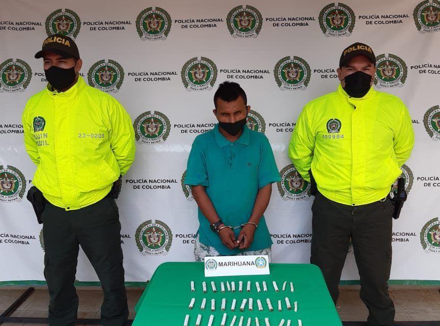 """Capturado alias el """"Zarco"""" por tráfico de estupefacientes en Campoalegre"""