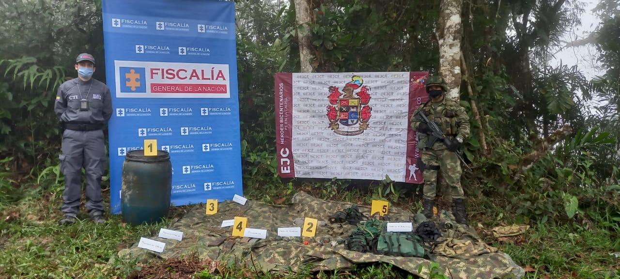 CTI y Ejército incautaron material de guerra en zona rural de Acevedo
