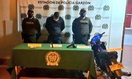 Reconocido delincuente fue capturado en Garzón