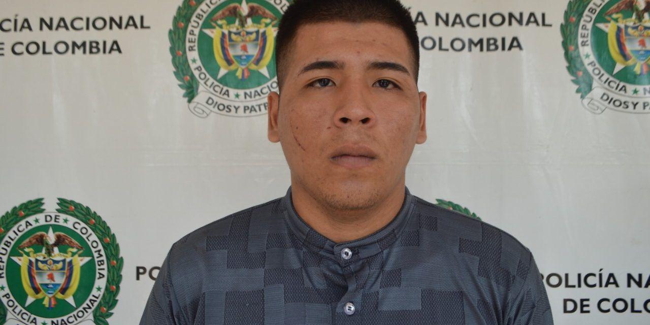 Capturado alias «Totoy»: reconocido delincuente por hurto agravado en Neiva