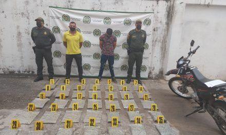 Incautan 20 kilos de marihuana que tenían como destino Neiva