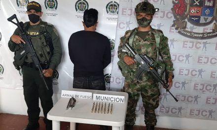 Capturado hombre en Nátaga por porte ilegal de armas