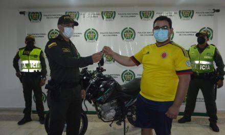 Recuperan motocicleta que había sido hurtada en Neiva