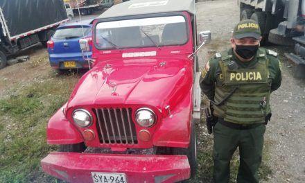 Policía logró la recuperación de 3 motos y 1 vehículo en el Huila