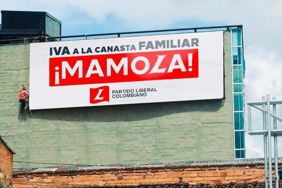 ¡Mamola!: La campaña del Partido Liberal para evitar el IVA a la canasta familiar
