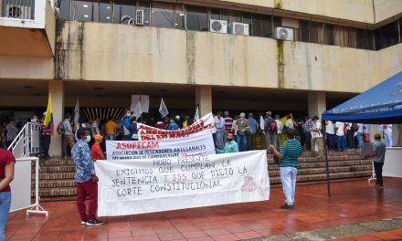 Comunidades protestaron en contra de las represas y sus afectaciones en el Huila