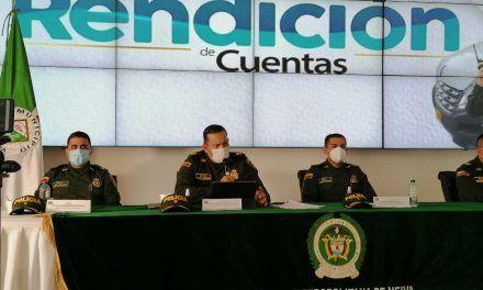 Policía Metropolitana de Neiva rindió cuentas del 2020