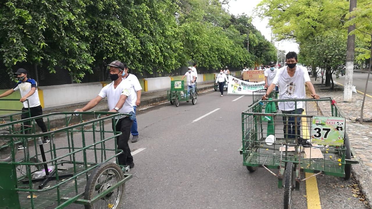 Reconocimiento dentro de lo legal, exigieron los recicladores de Neiva.