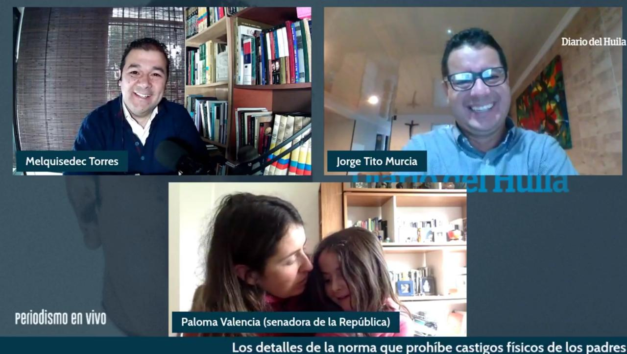 Paloma Valencia sostuvo que hay estrategias, diferentes a los golpes, para educar a los menores.