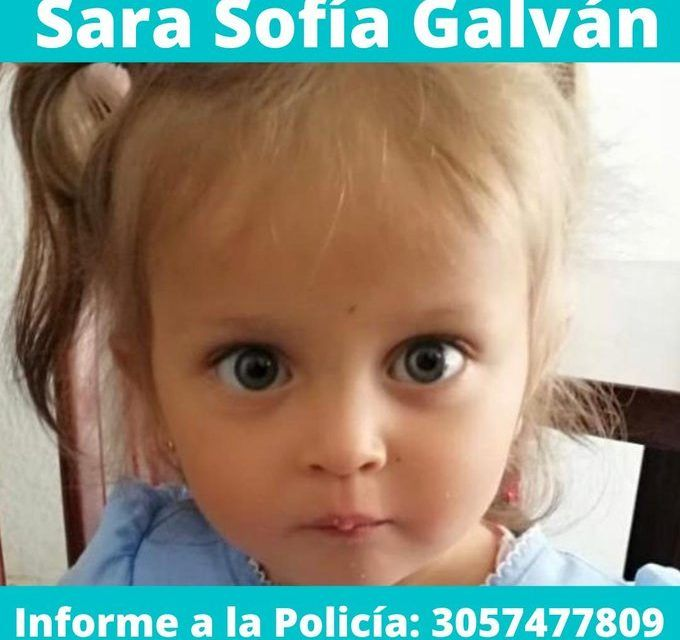 Expiden circular amarilla de Interpol para buscar a Sara Sofía en otros países