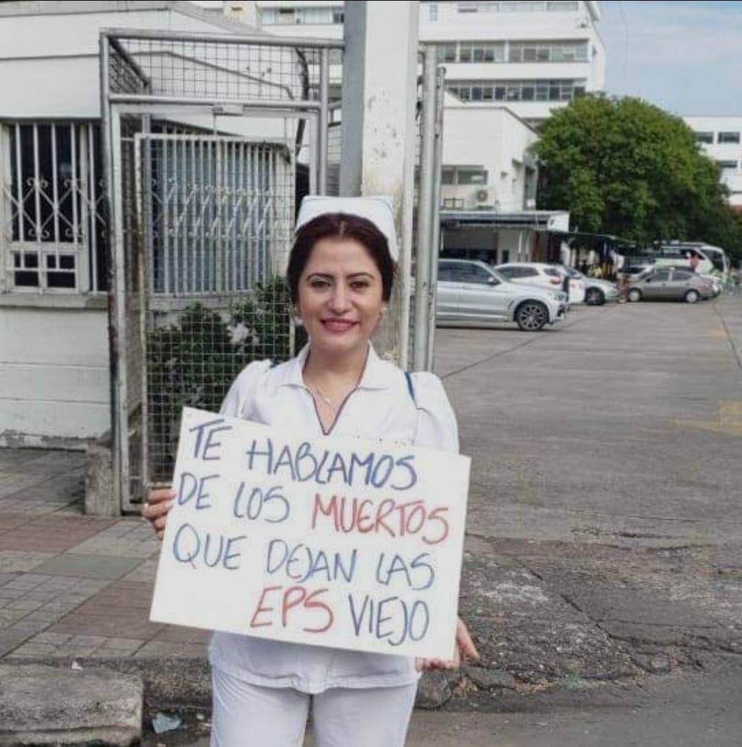 La mujer lleva cerca de 20 años defendiendo los derechos de la enfermería.